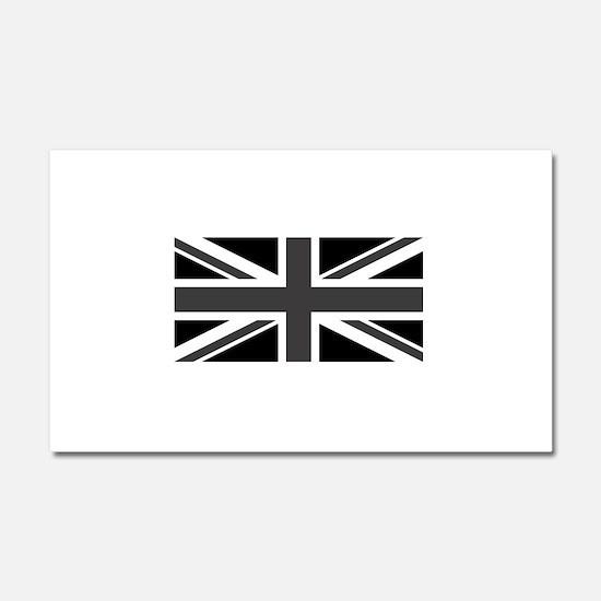 Union Jack - Black and White Car Magnet 20 x 12