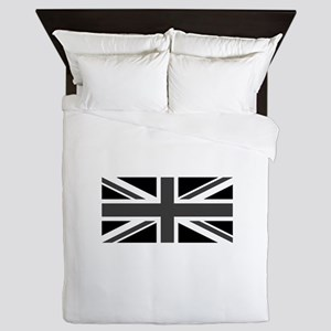 Union Jack - Black and White Queen Duvet