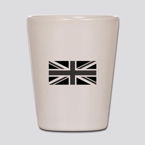 Union Jack - Black and White Shot Glass
