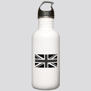 Union Jack - Black and White Water Bottle