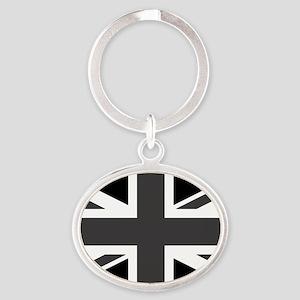 Union Jack - Black and White Keychains