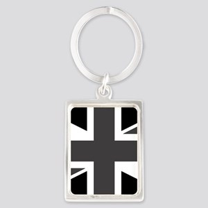 Union Jack - Black and White Keychains