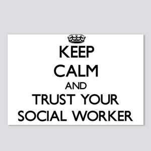Keep Calm and Trust Your Social Worker Postcards (