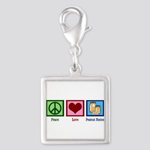 Peanut Butter Silver Square Charm