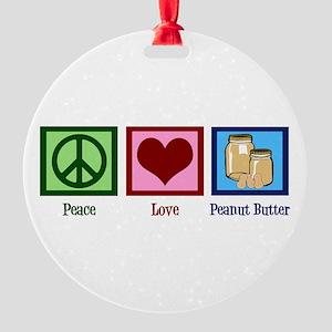 Peanut Butter Round Ornament
