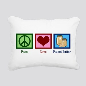 Peanut Butter Rectangular Canvas Pillow