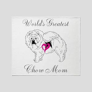 Worlds Greatest Chow Mom Throw Blanket