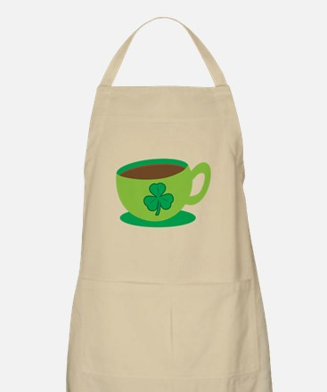 Irish coffee with green coffee mug Apron