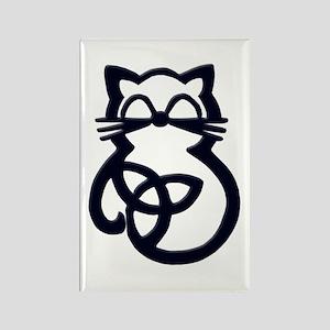 Black Trinity Knot Celtic Cat Magnets