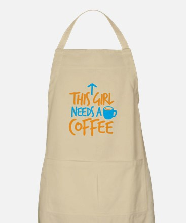 This girl needs a coffee! with arrow up Apron