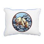 Native Bear Art Rectangular Canvas Pillow