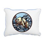 Native Bear Art Rectangular Canvas Pillow