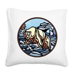 Native Bear Art Square Canvas Pillow