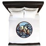 Native Bear Art King Duvet