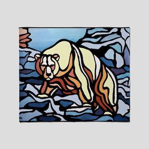 Native Bear Art Throw Blanket