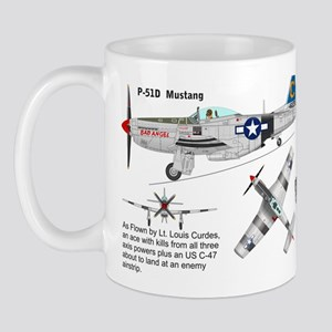 P-51 Mustang As Flown By Lt. Louis Curdes Mug Mugs