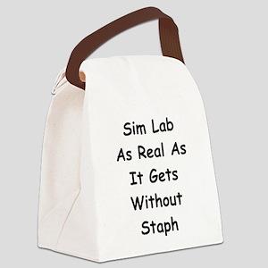 Sim Lab Staph Canvas Lunch Bag