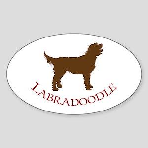 Labradoodle Dog Oval Sticker