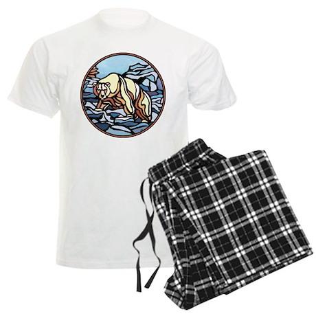 Native Bear Art Men's Light Pajamas