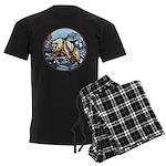 Native Bear Art Men's Dark Pajamas