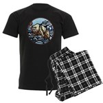 Native Bear Art Men's Dark Pajamas
