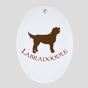 Labradoodle Dog Oval Ornament