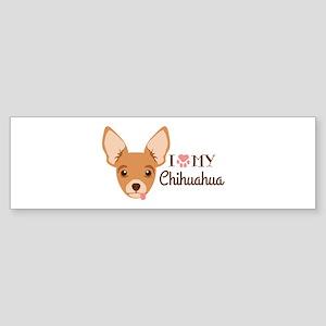 I My Chihuahua Bumper Sticker