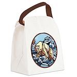 Native Bear Art Canvas Lunch Bag