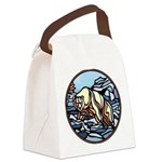 Native Bear Art Canvas Lunch Bag