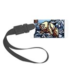 Native Bear Art Small Luggage Tag