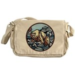 Native Bear Art Messenger Bag