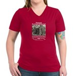 Surviving is 1st Step Women's V-Neck Dark T-Shirt