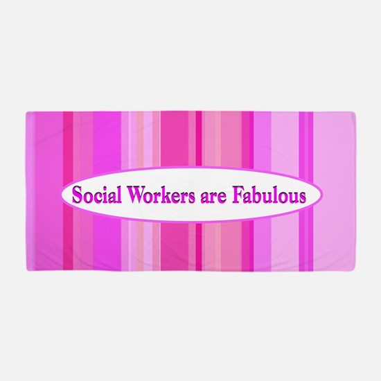 #1 Social Worker Beach Towel