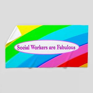 Top Social Worker Beach Towel