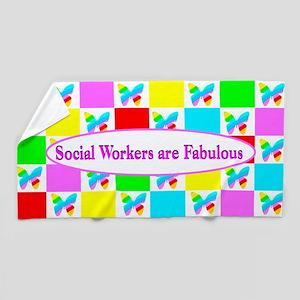 Love Social Work Beach Towel