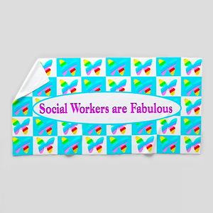 Social Work Job Beach Towel