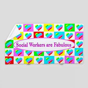 Social Work Love Beach Towel