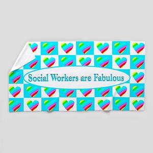 Heart Social Work Beach Towel