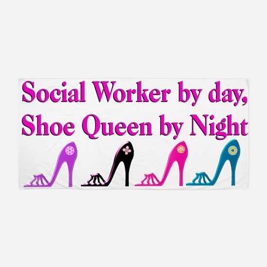 Social Worker Shoes Beach Towel