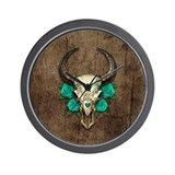 Cow skull Wall Clocks