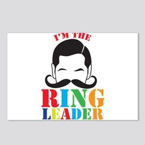 Im the RING LEADER with man curly mustache Postcar