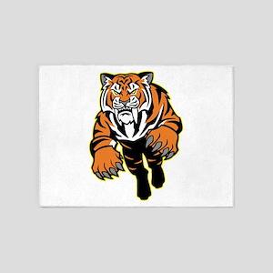 Orange Tiger Mascot 5'x7'Area Rug