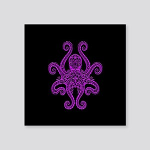 Intricate Purple and Black Tribal Octopus Sticker