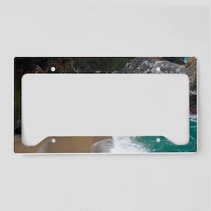 Beach Waterfall Big Sur License Plate Holder