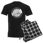 Polar Bear & Cub Men's Dark Pajamas