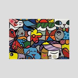 cute art Rectangle Magnet