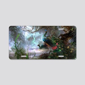 peacock art painting Aluminum License Plate