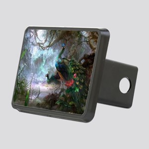 peacock art painting Rectangular Hitch Cover