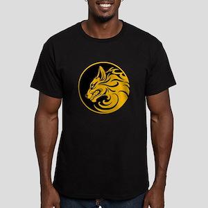 Growling Yellow and Black Wolf Circle T-Shirt