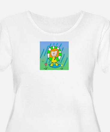 Spring Showers, Spring Flowers Plus Size T-Shirt